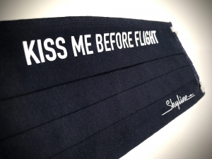 Maska Kiss Me Before Flight  granatowa